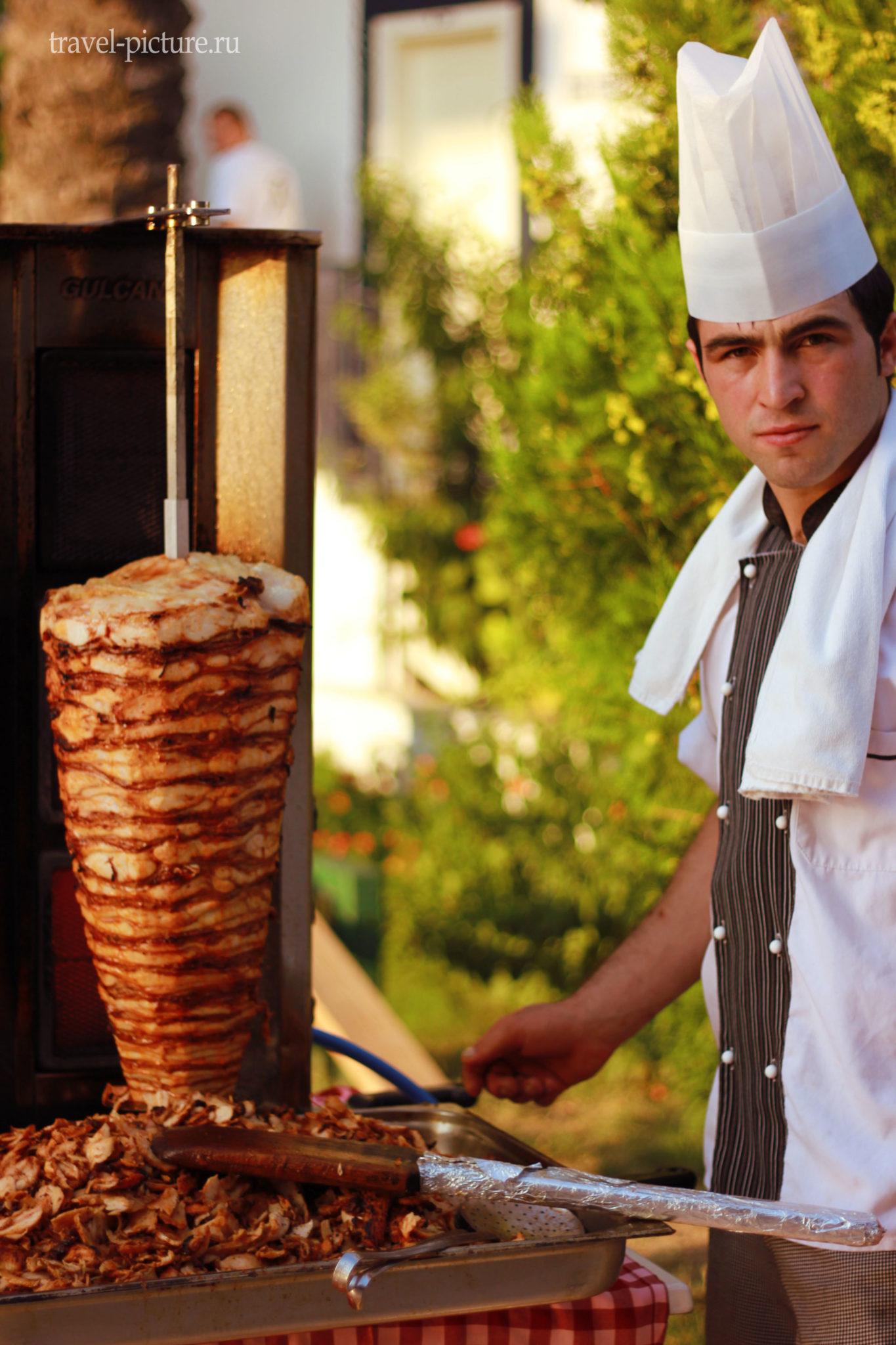 кухня в отелях турции