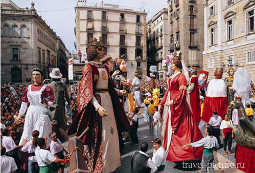 Праздник Ле-Мерсе в Барселоне