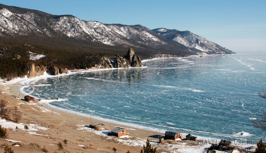 бухта песчаная зимой