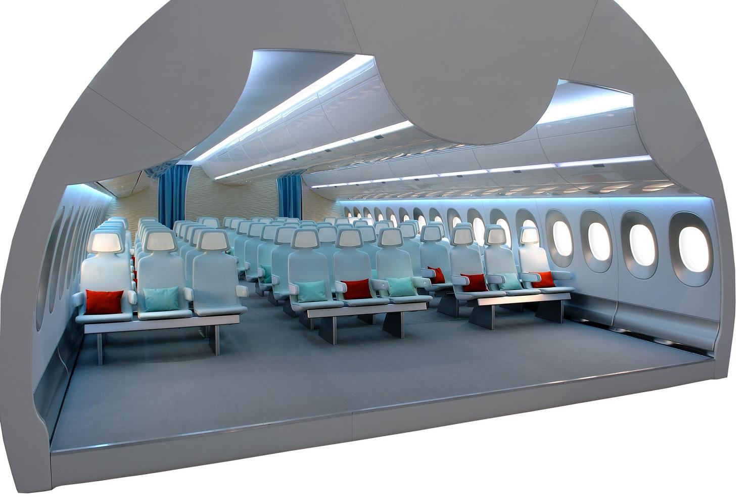 интерьер самолета Airbus A350