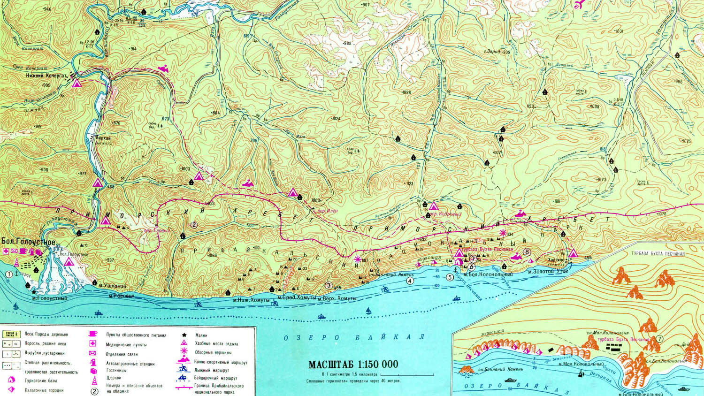 карта бухты Песчаная