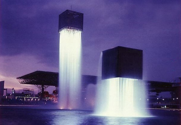 Парящий фонтан