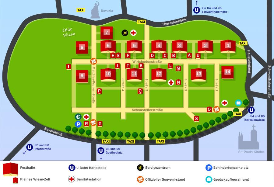 Схема расположения палаток на фестивале Октоберфест