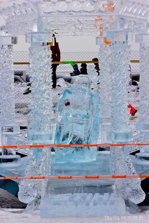 фотографии конкурса ледяных скульптур Хрустальная нерпа