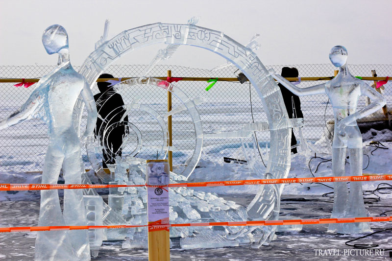 ледяные скульптуры снимки