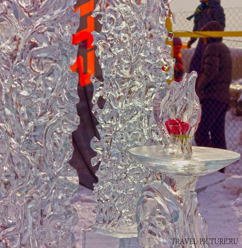 лед и роза на байкале