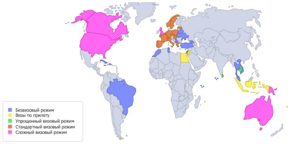 список безвизовых стран 2016