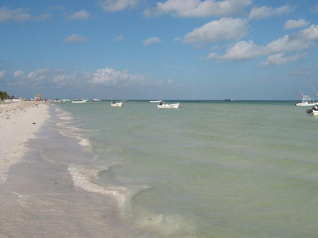 белоснежные пляжи карибского побережья