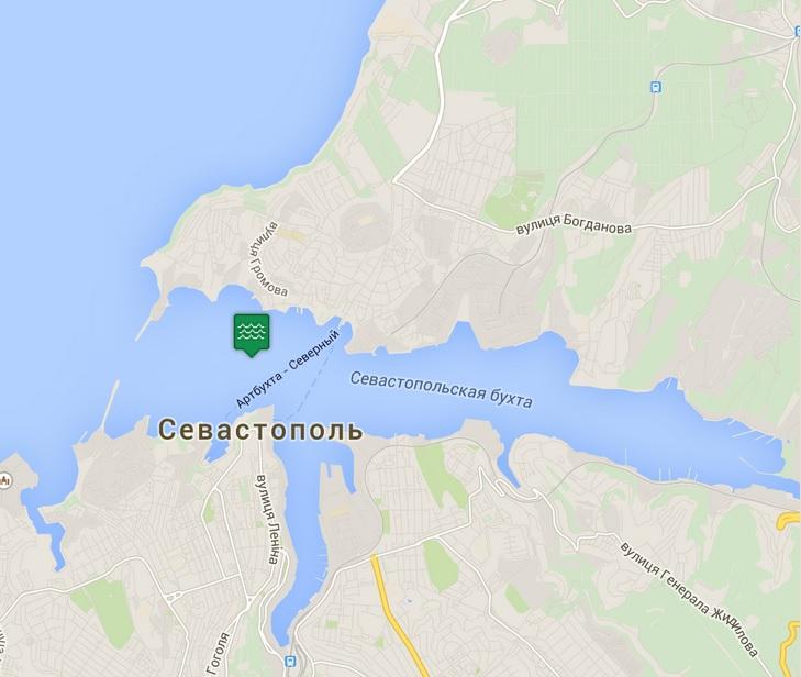карта севастопольской бухты
