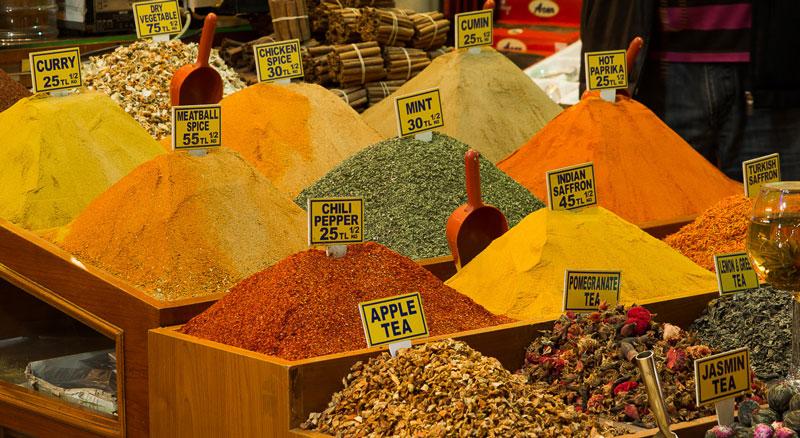На одном из рынков города Стамбул