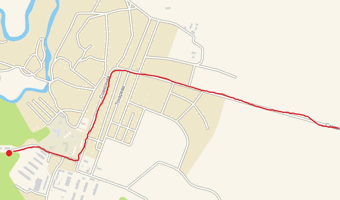 Карта проезда до детского лагеря Лукоморье в селе Саватеевка