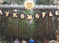 Конкурс деревянных скульптур Лукоморье 2015 в Саватеевке