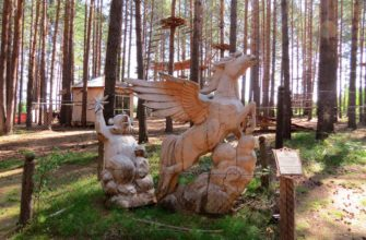 Конкурс деревянных скульптур Лукоморье