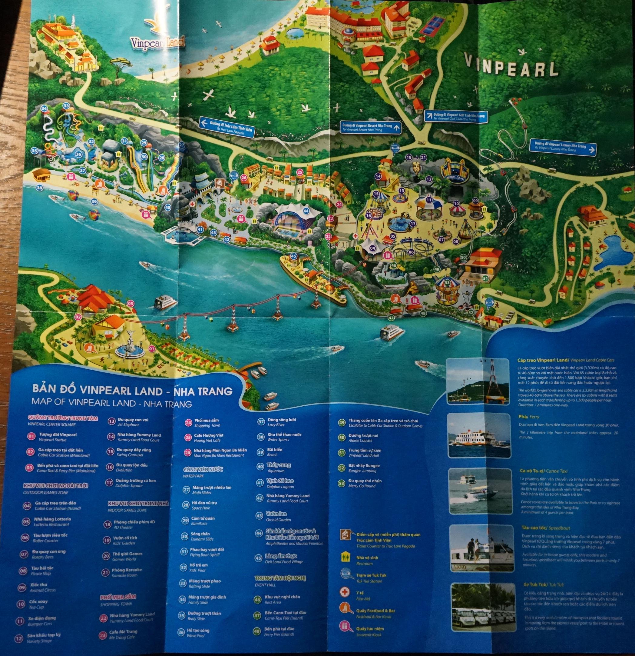 Карта Vinpearl