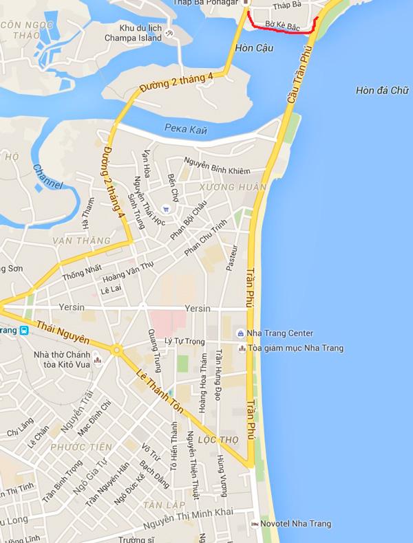 улица рыбных ресторанов Bo Ke Bac