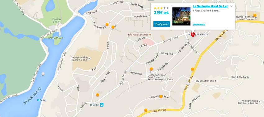 карта отеля ля сапинет