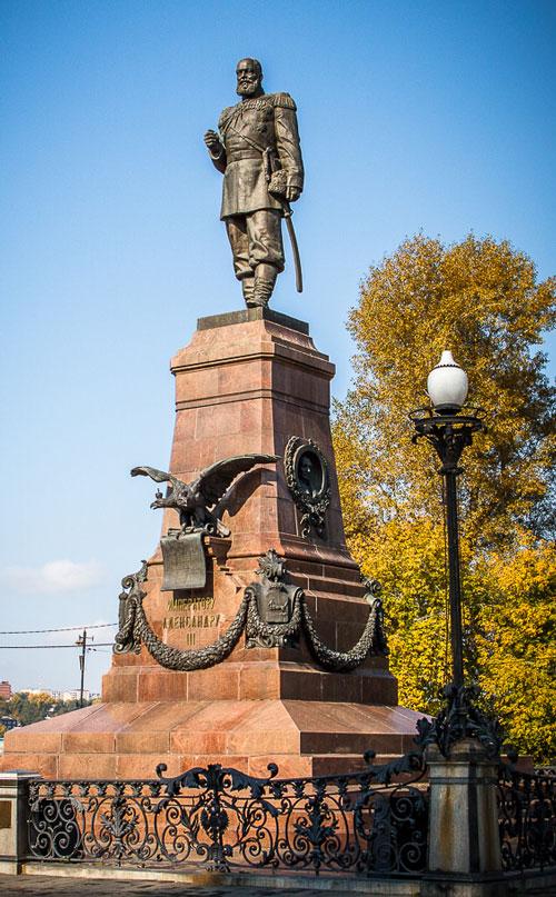памятник Александру третьему иркутск