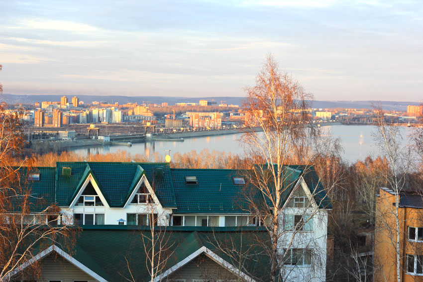 Вид с пика любви в Иркутске