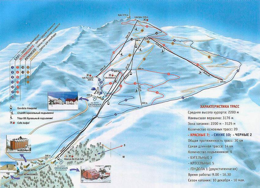 схемма трасс Паландокен