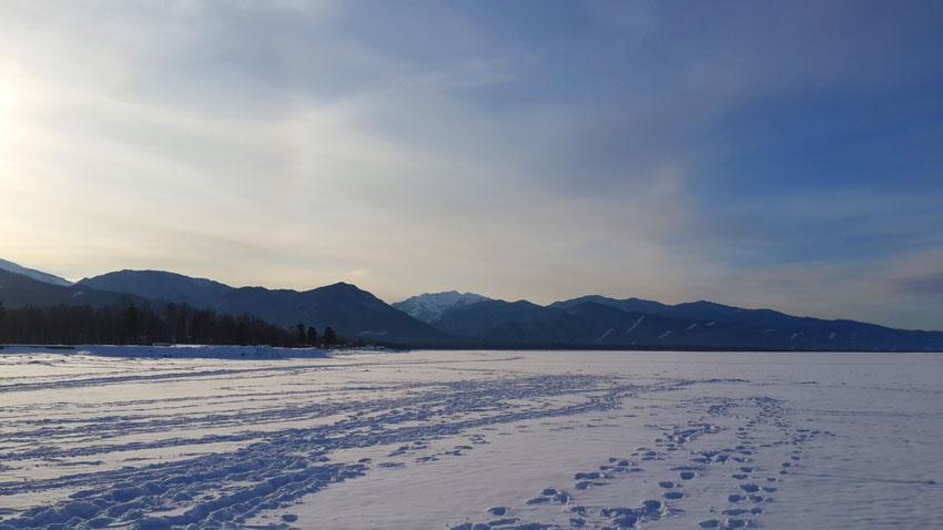 фото Байкала в зимнее время года