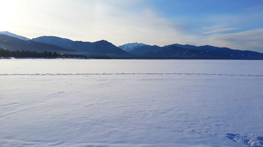 фотографии озера Байкал зимой