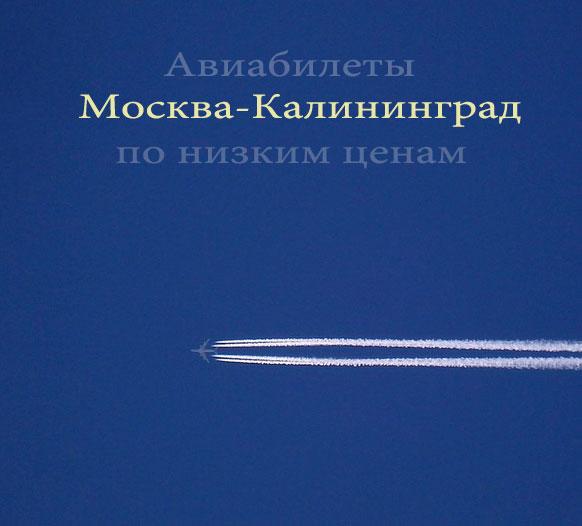 Авиабилеты Москва-Калининград, туда дешево