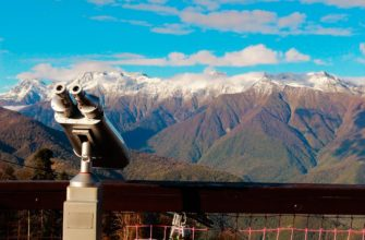 Вид на Кавказский хребет осенью