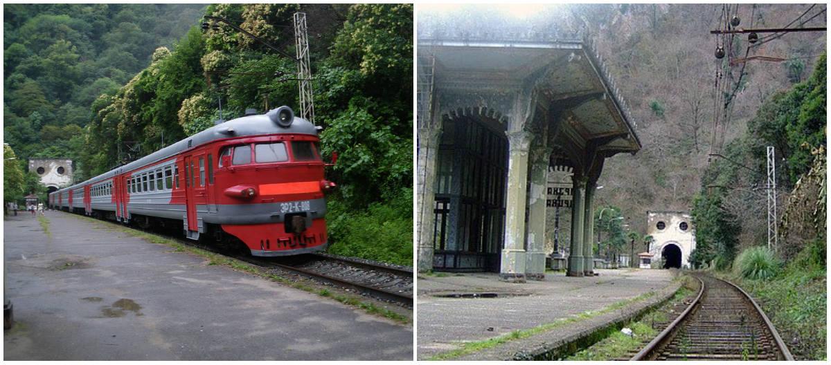 добраться до Абхазии на поезде