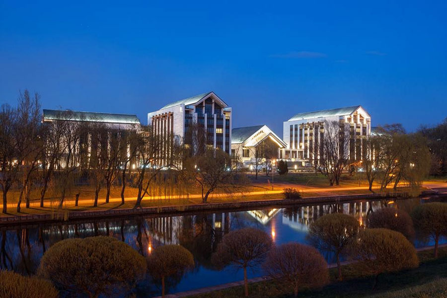 Картинка вечернего Пекина