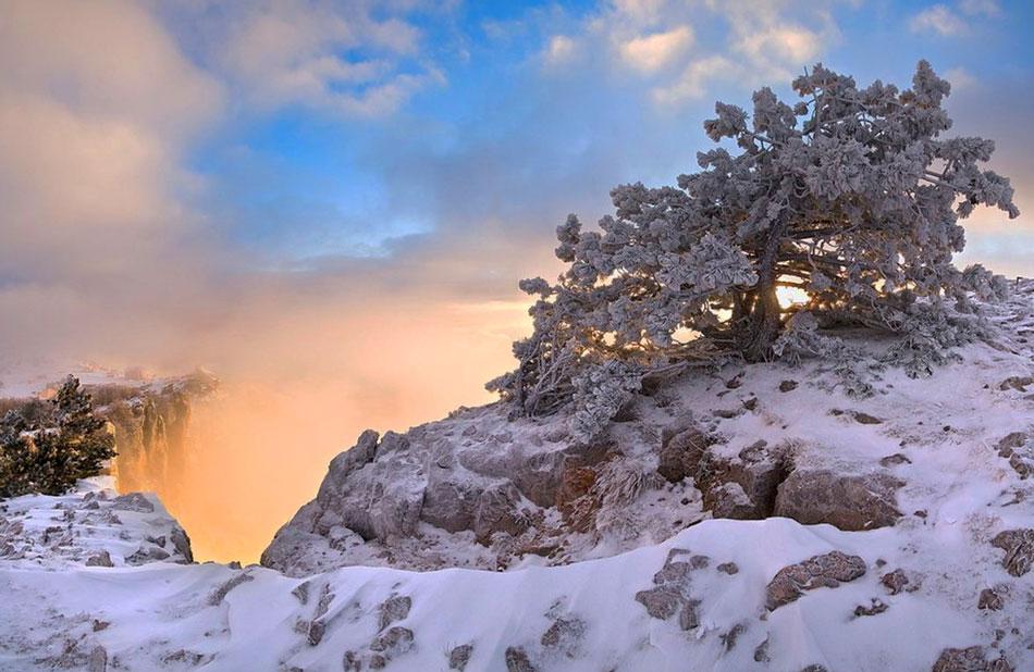 частный сектор в Крыму зимой