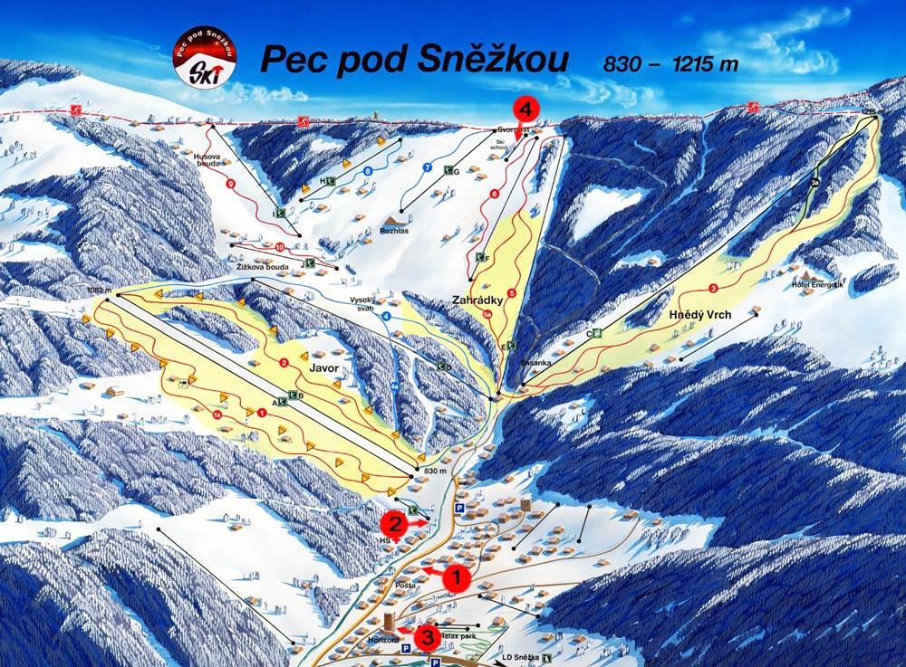 погода на горнолыжных курортах Чехии