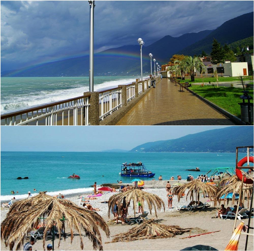 города абхазии для отдыха на побережье