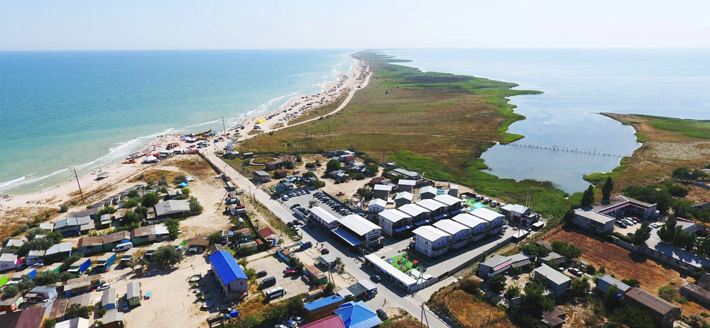 Частный сектор на Азовском море