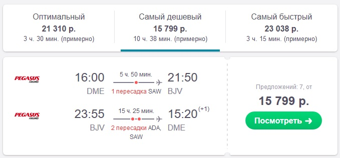 билеты на самолет в Бодрум, цены