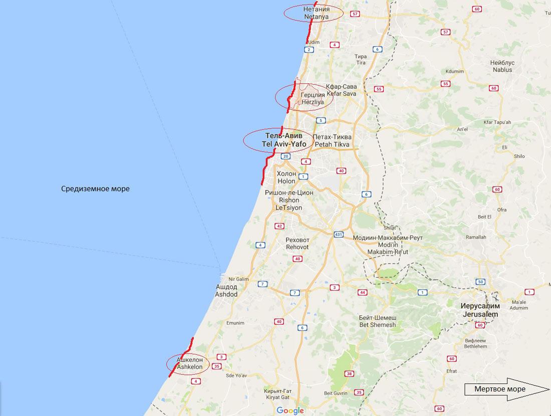 куда лучше поехать на море в Израиль