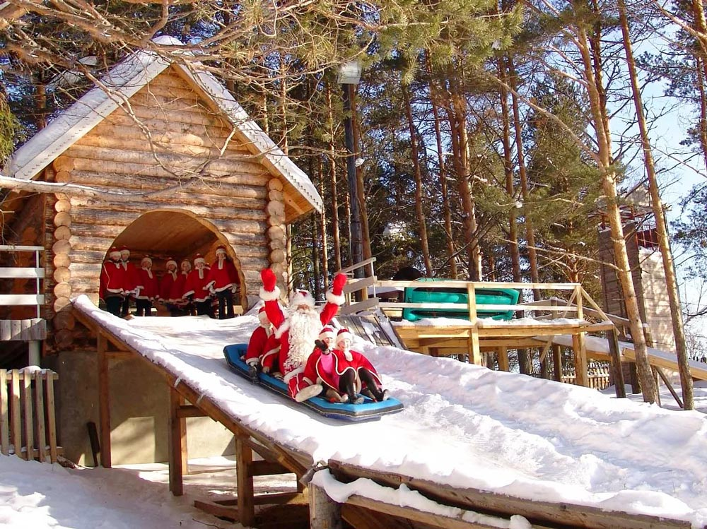 Отдых с детьми зимой в России