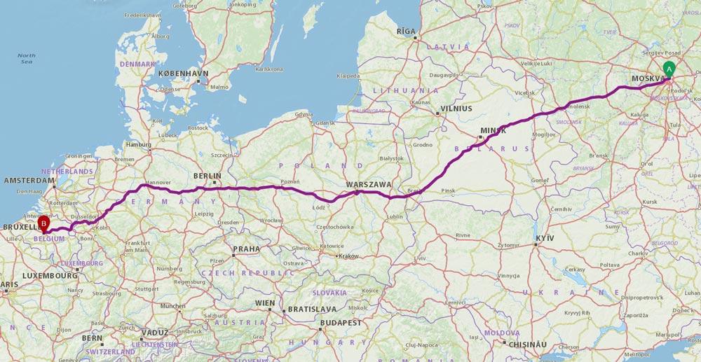 Как добраться до Брюсселя