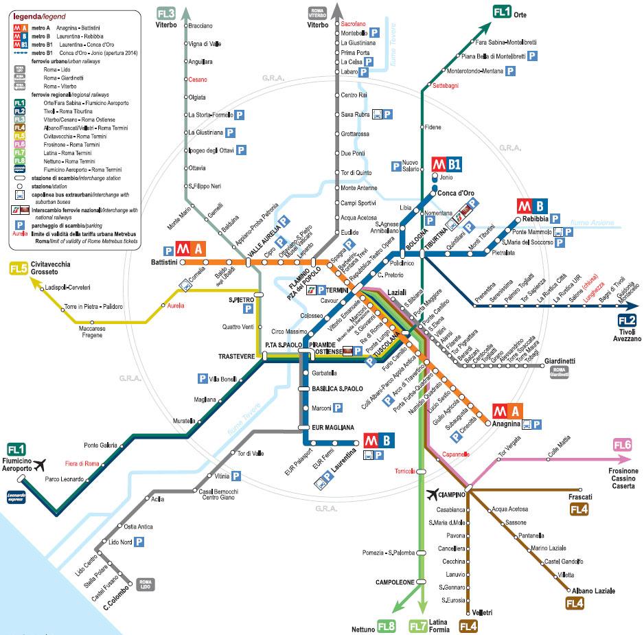 добраться до Рима на поезде