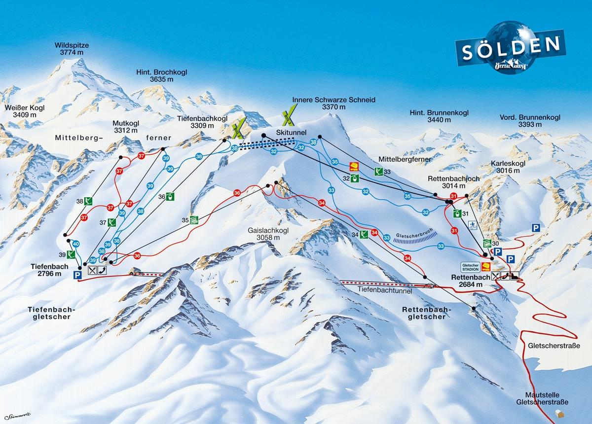 горнолыжные курорты Австрии, рейтинг