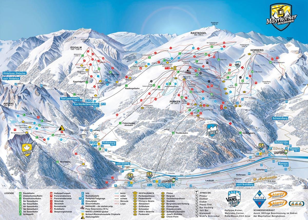 Список горнолыжных курортов Австрии