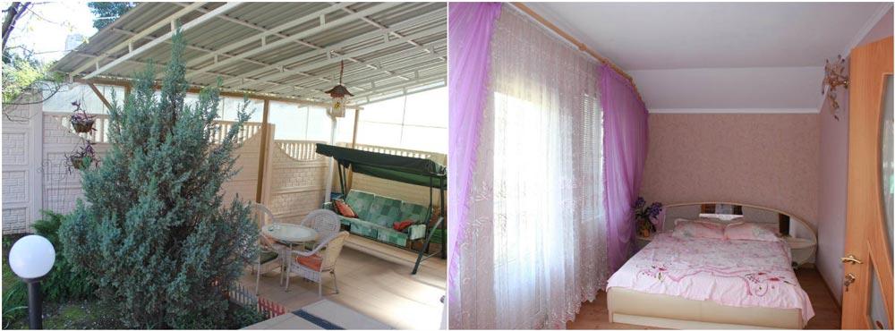гостевой дом в гаграх на берегу моря