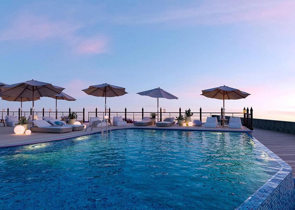 отели с бассейном