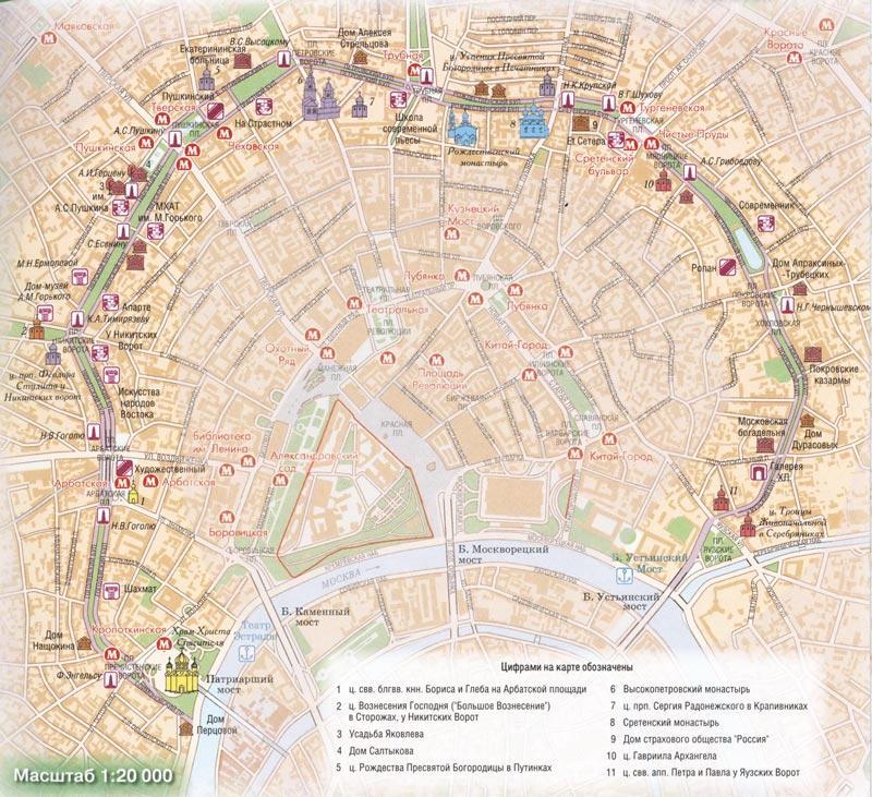 карта кольца в столице