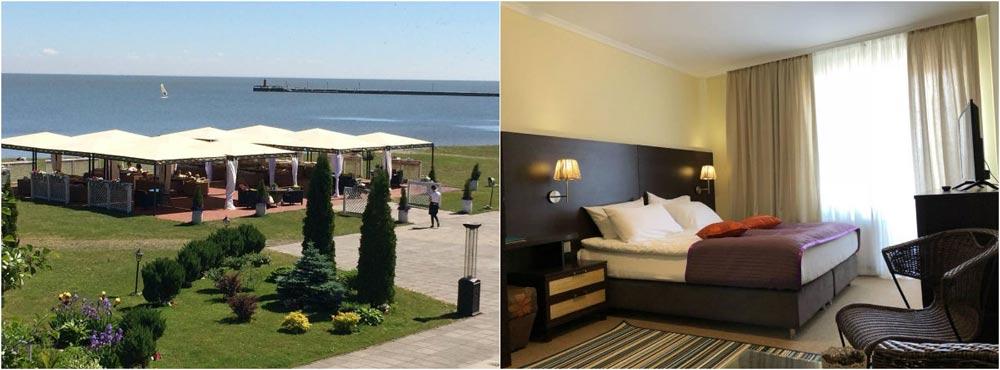 Пляжные отели на Куршской косе