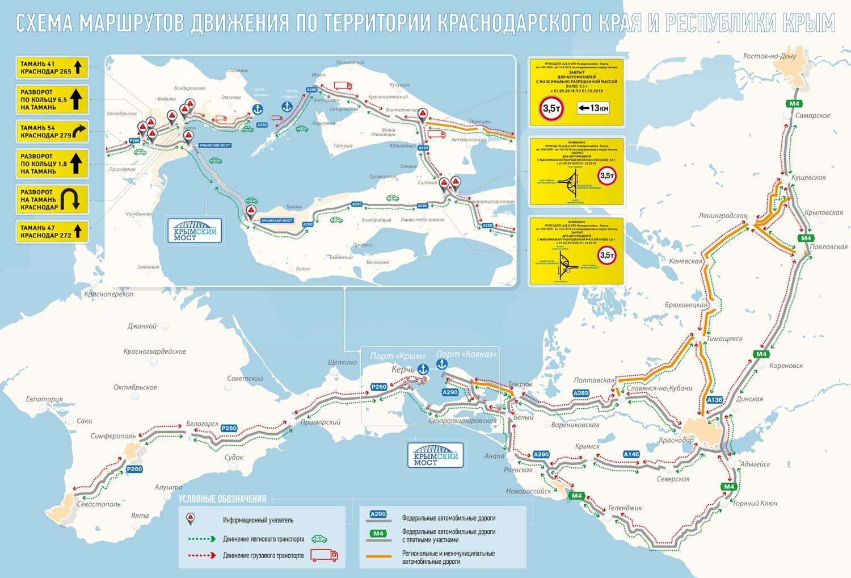 схема движения по керченскому мосту