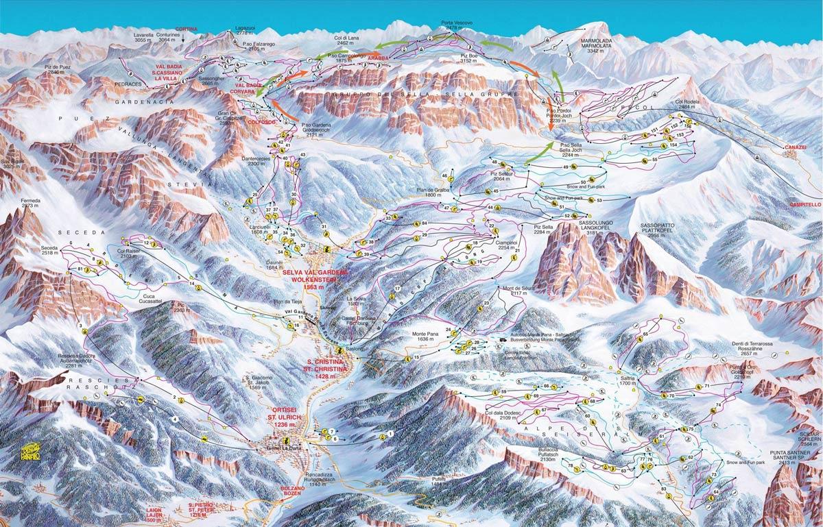 где покататься в Италии на лыжах