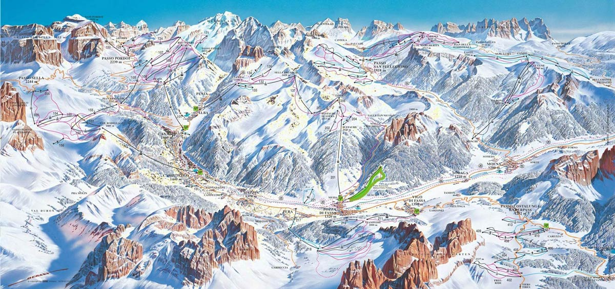 катание на сноуборде в Европе зимой