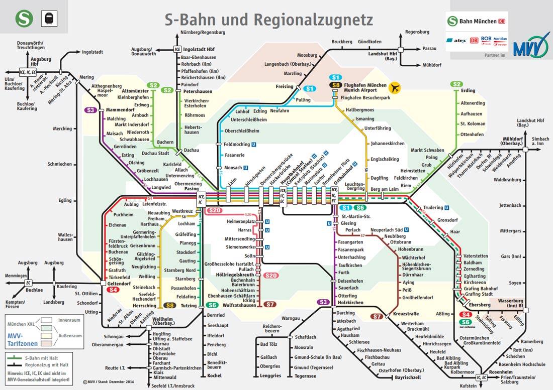 схема метро Мюнхена