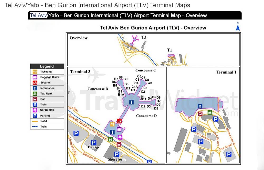 как добраться из аэропорта Тель Авива до центра