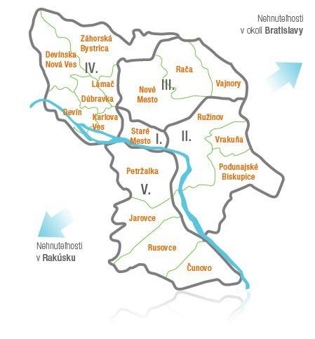 карта районов для туриста
